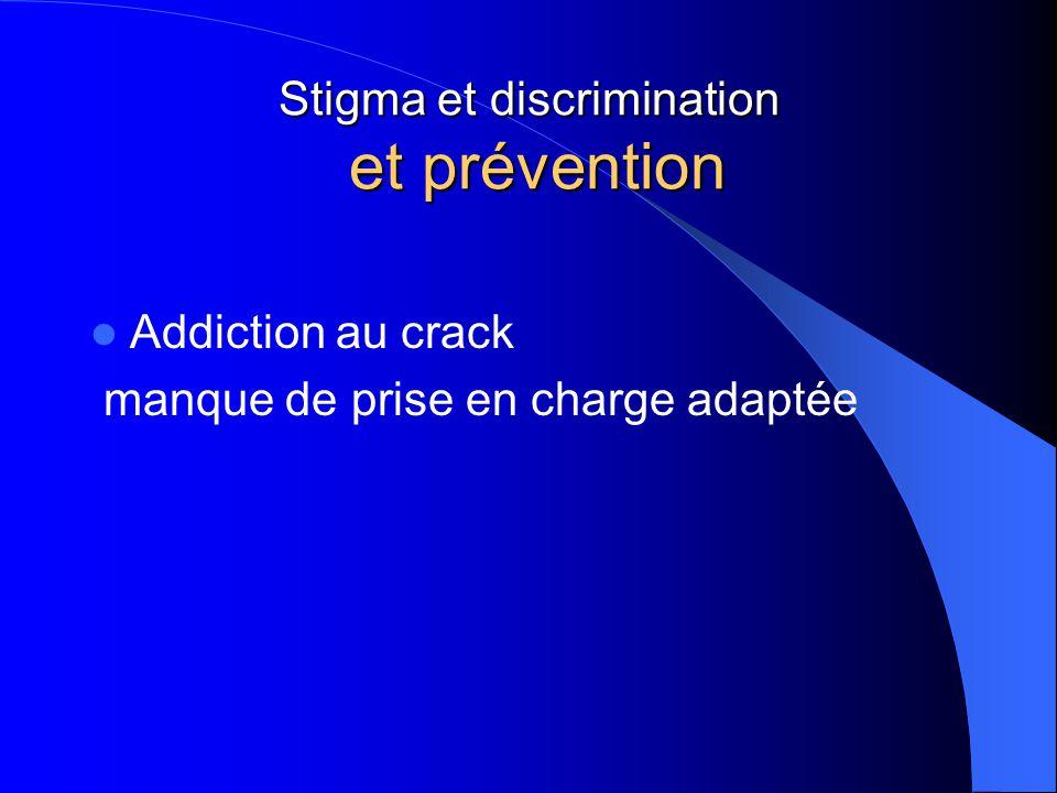 Stigma et discrimination et prévention Addiction au crack manque de prise en charge adaptée