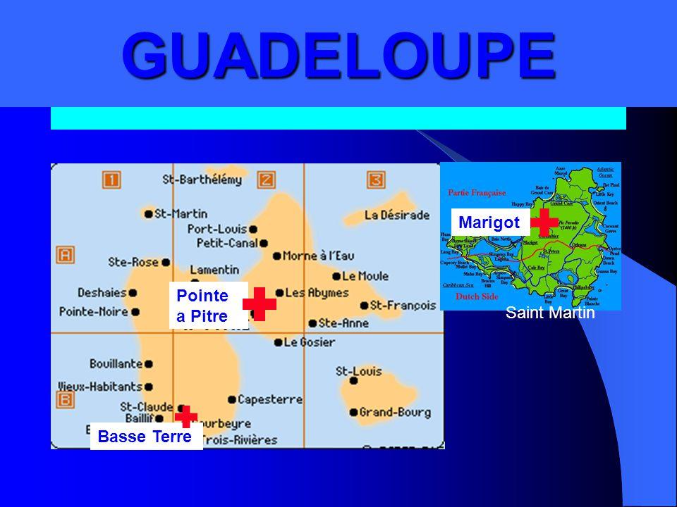 GUADELOUPE.GUADELOUPE Basse Terre Pointe a Pitre Marigot Saint Martin