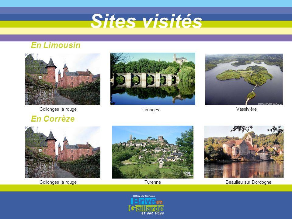 Sites visités En Limousin En Corrèze Collonges la rouge Limoges Vassivière Collonges la rougeTurenneBeaulieu sur Dordogne