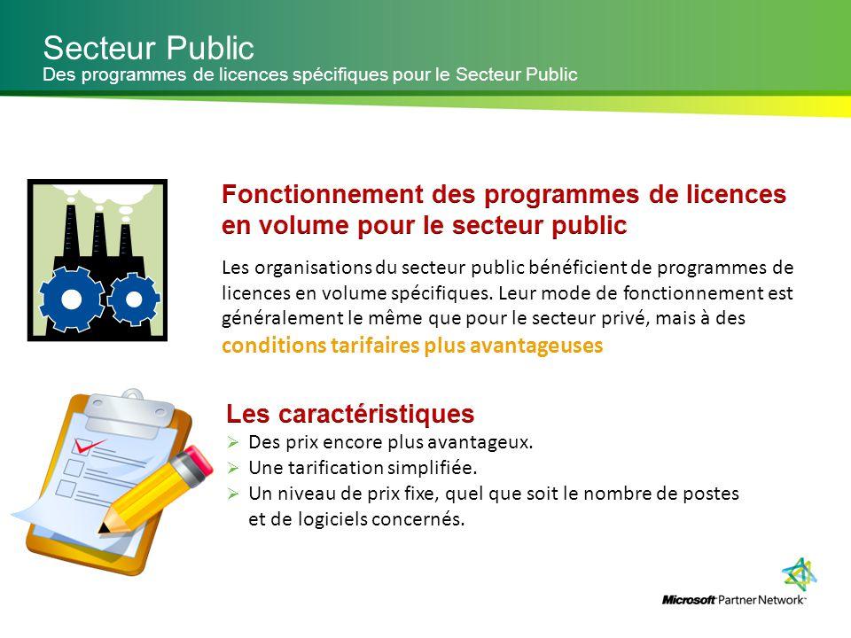 Secteur Public Des programmes de licences spécifiques pour le Secteur Public