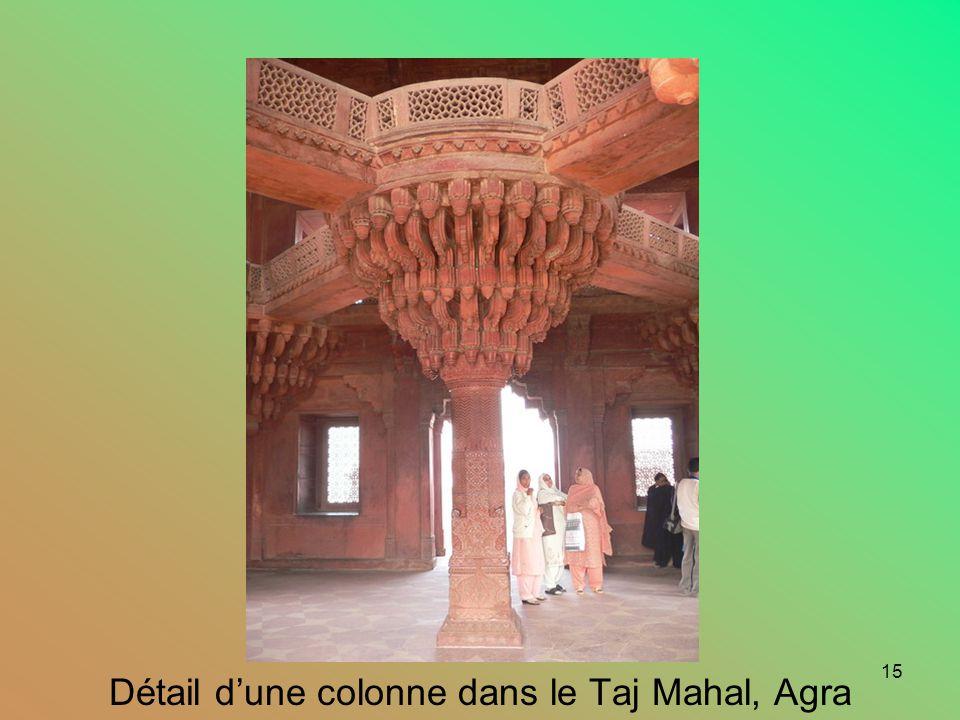 14 Taj Mahal, Agra. Vu du côté est