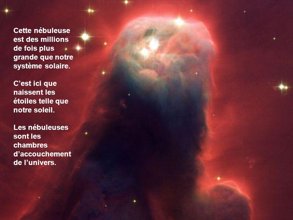 Ceci est une étoile mourante qui se situe à trois mille années lumière de nous.