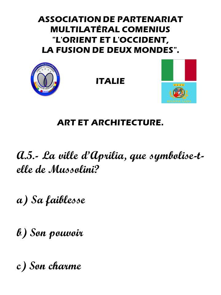 ASSOCIATION DE PARTENARIAT MULTILATÉRAL COMENIUS L ORIENT ET L OCCIDENT, LA FUSION DE DEUX MONDES .