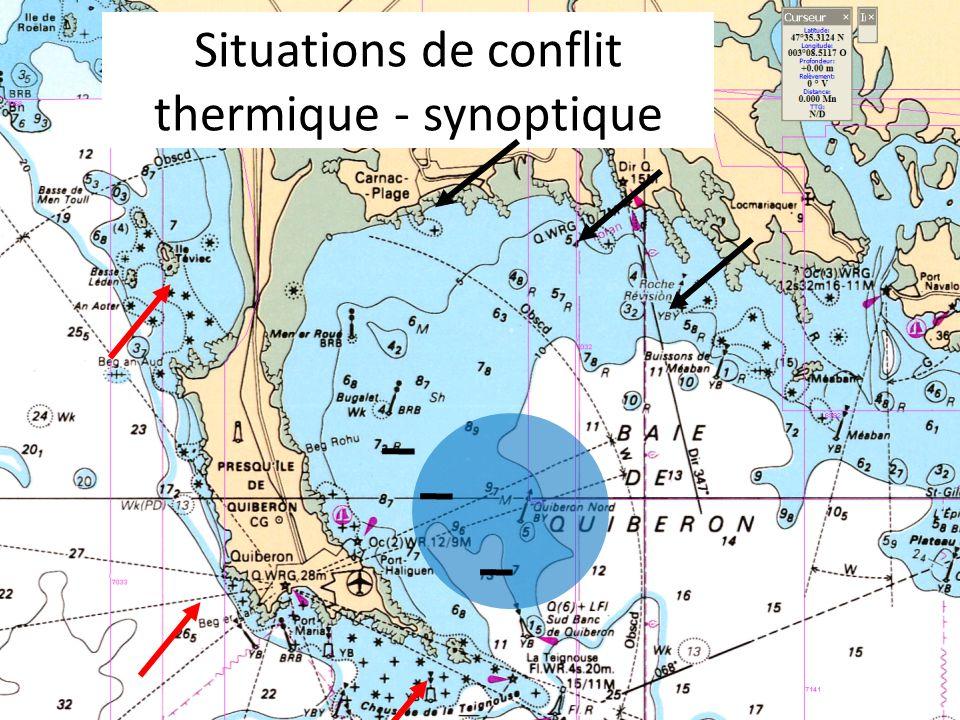 Situations de conflit thermique - synoptique