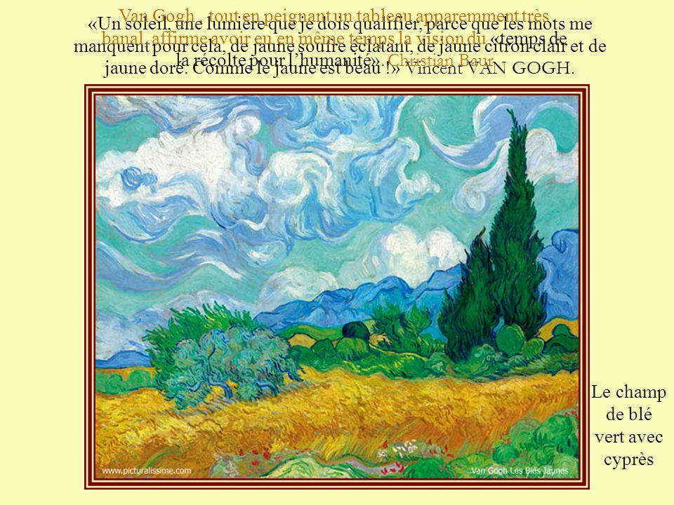 On remarque «une impulsion nettement spirituelle». Il s'agit de l'aptitude de Vincent à élargir sa perception limitée du monde extérieur au profit d'u