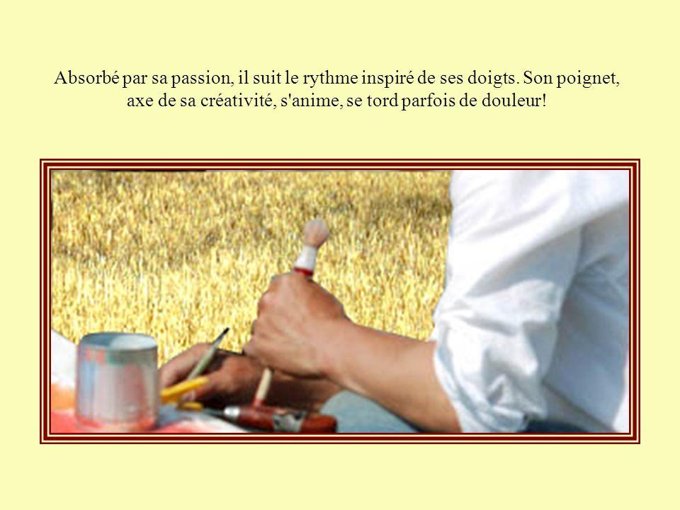 Goutte après goutte, l'eau s'infiltre dans son esprit mais le peintre refuse de déposer ses pinceaux, d'aller étancher sa soif.