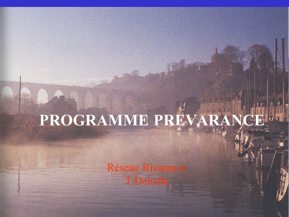 PROGRAMME PREVARANCE Réseau Rivarance T Denolle