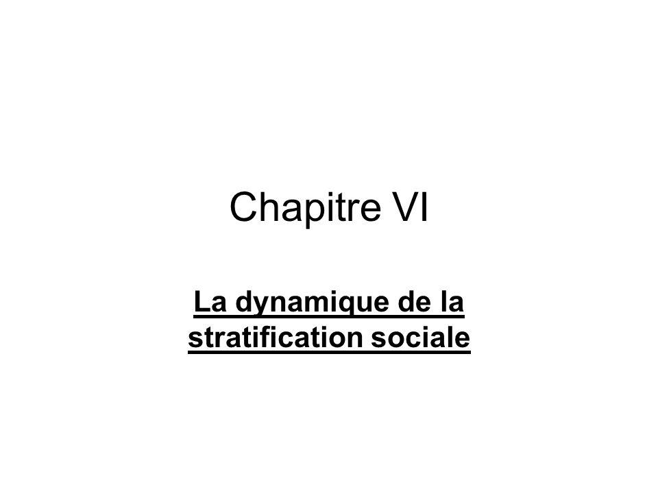 Chapitre VI La dynamique de la stratification sociale