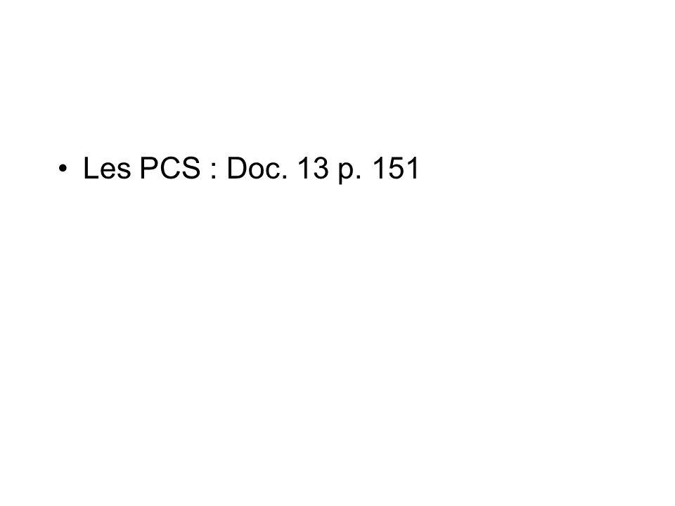 Les PCS : Doc. 13 p. 151
