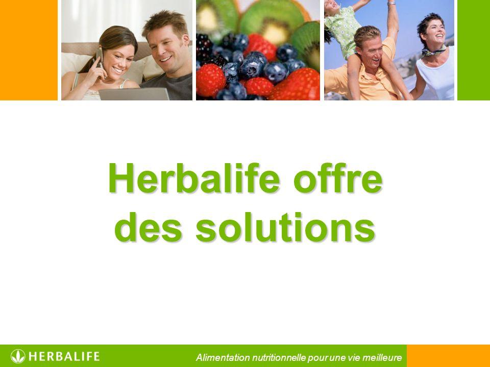 Herbalife offre des solutions Alimentation nutritionnelle pour une vie meilleure