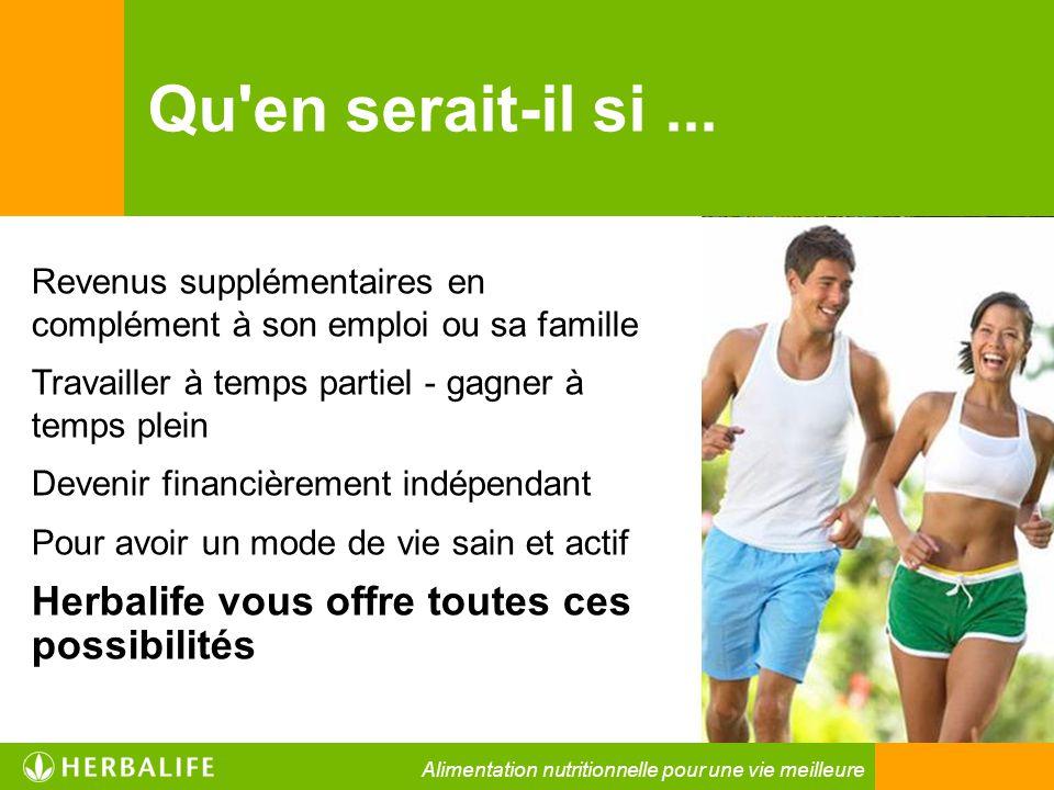 Herbalife est une entreprise particulière Mission : « Améliorer les habitudes alimentaires dans le monde en développant et en offrant les meilleurs produits alimentaires » Alimentation nutritionnelle pour une vie meilleure