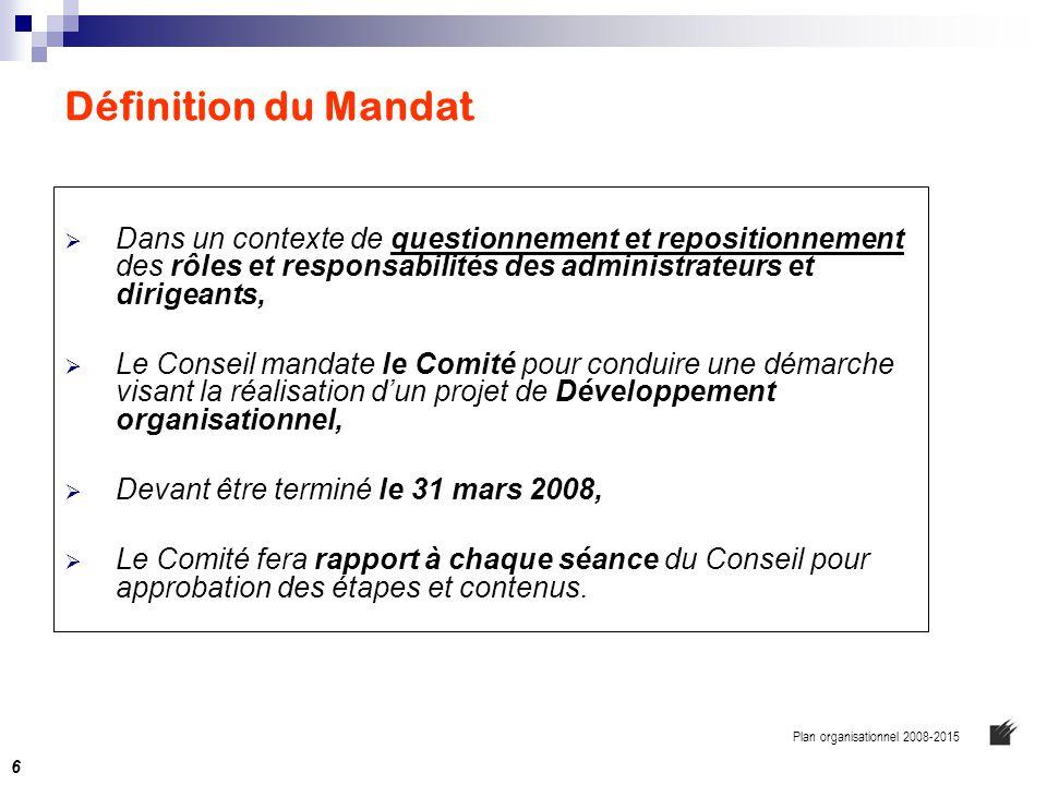 Résumer  Plan stratégique de développement 2001-2007