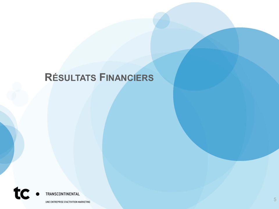 R ÉSULTATS F INANCIERS 5