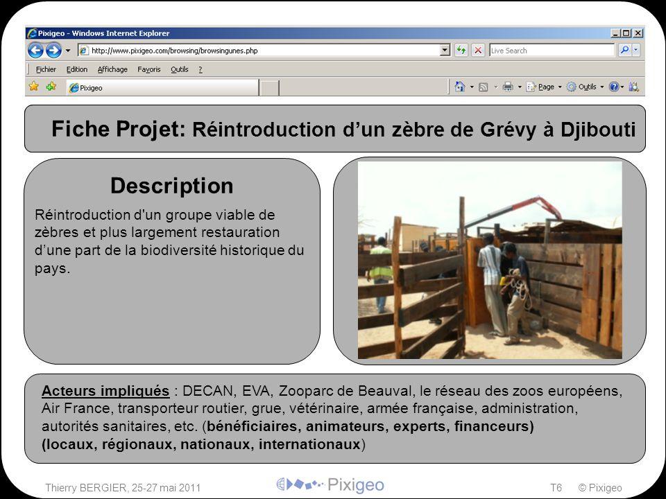 Thierry BERGIER, 25-27 mai 2011T6 © Pixigeo Photos Description Acteurs impliqués Acteurs impliqués : DECAN, EVA, Zooparc de Beauval, le réseau des zoo
