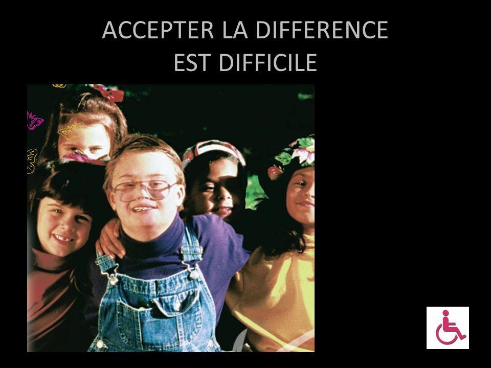 ACCEPTER LA DIFFERENCE La différence fait peur La différence introduit l'incertitude La différence est perçue comme une menace par ce qu'elle nous met en situation de réagir et de se décentrer) Le handicap peut donner l'impression d'une déshumanisation CIRCONSCRIPTION NICE ASH