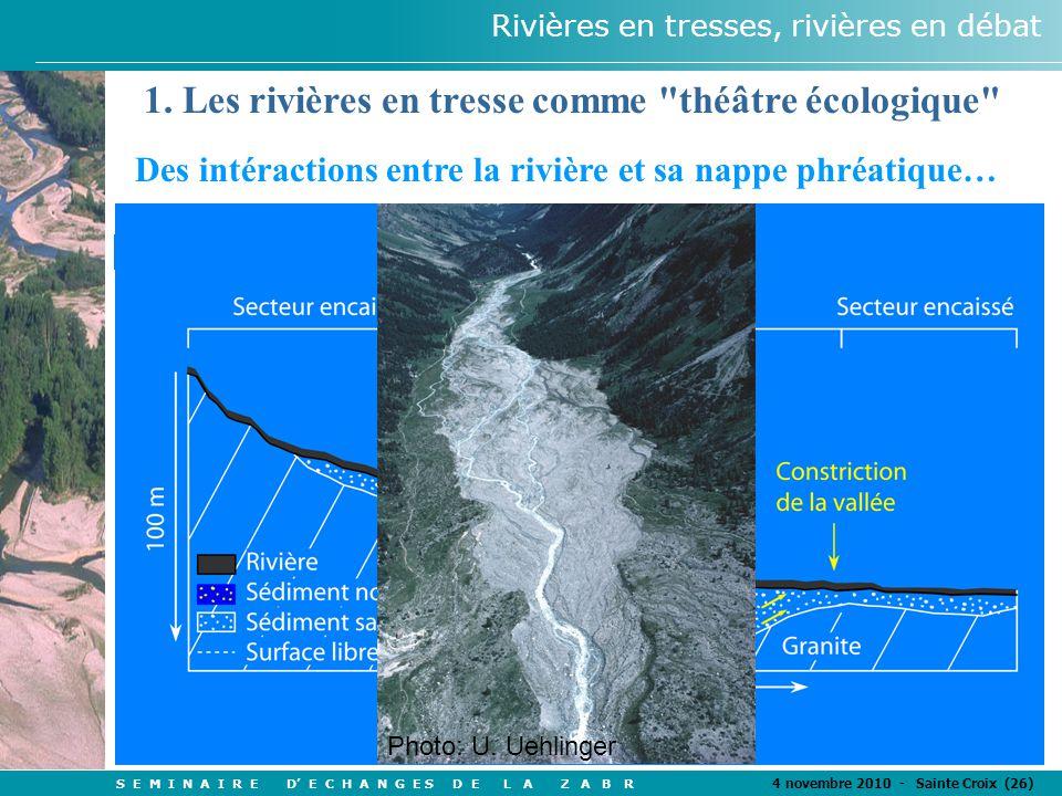 S E M I N A I R E D' E C H A N G E S D E L A Z A B R 4 novembre 2010 - Sainte Croix (26) Rivières en tresses, rivières en débat 1.