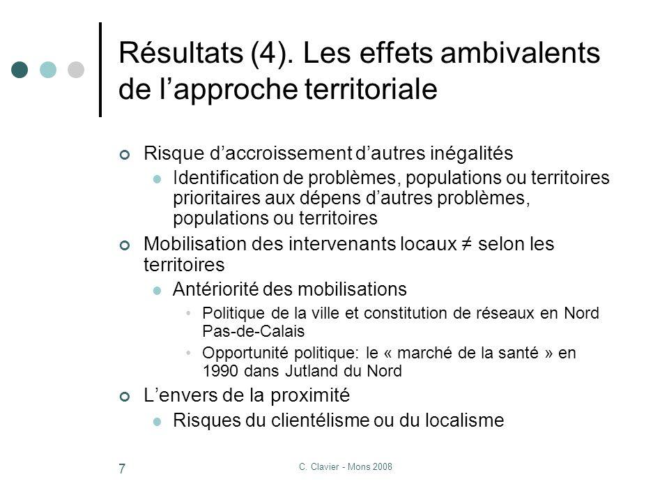 C. Clavier - Mons 2008 7 Résultats (4).