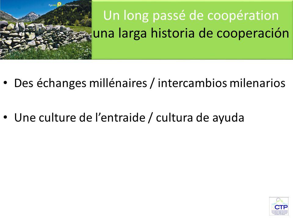 Des échanges millénaires / intercambios milenarios Une culture de l'entraide / cultura de ayuda Un long passé de coopération una larga historia de cooperación