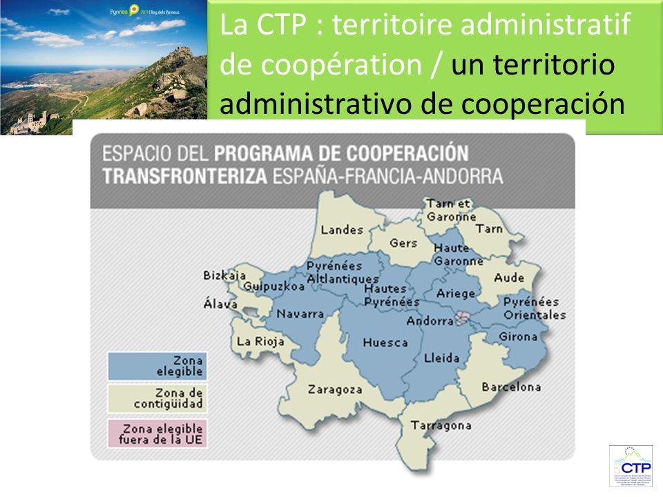 La CTP : territoire administratif de coopération / un territorio administrativo de cooperación