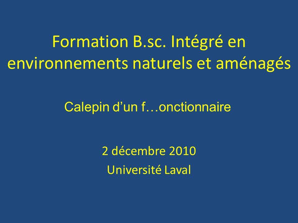 Formation B.sc.