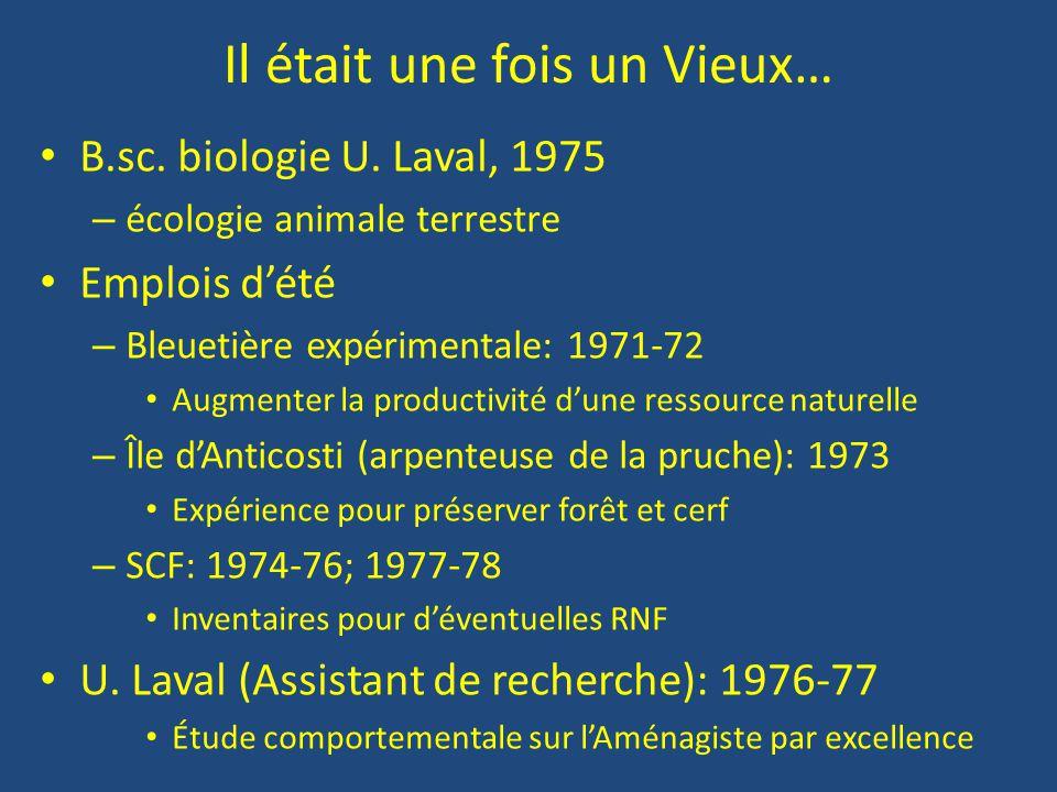 La vie heureuse d'un employé de l'État Faune-Québec (MTCP, MLCP, MEF, FAPAQ, MRNF…) : 1978-… – DR-03: 1978-1998 Plans de gestion, de développement, de mise en valeur, suivi de l'exploitation et des habitats (cours d'eau), inventaires, etc.