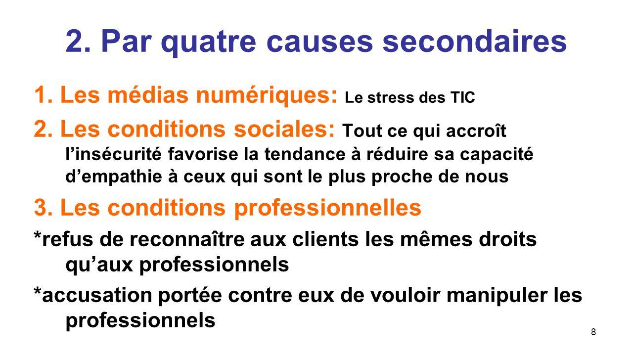 8 1.Les médias numériques: Le stress des TIC 2.