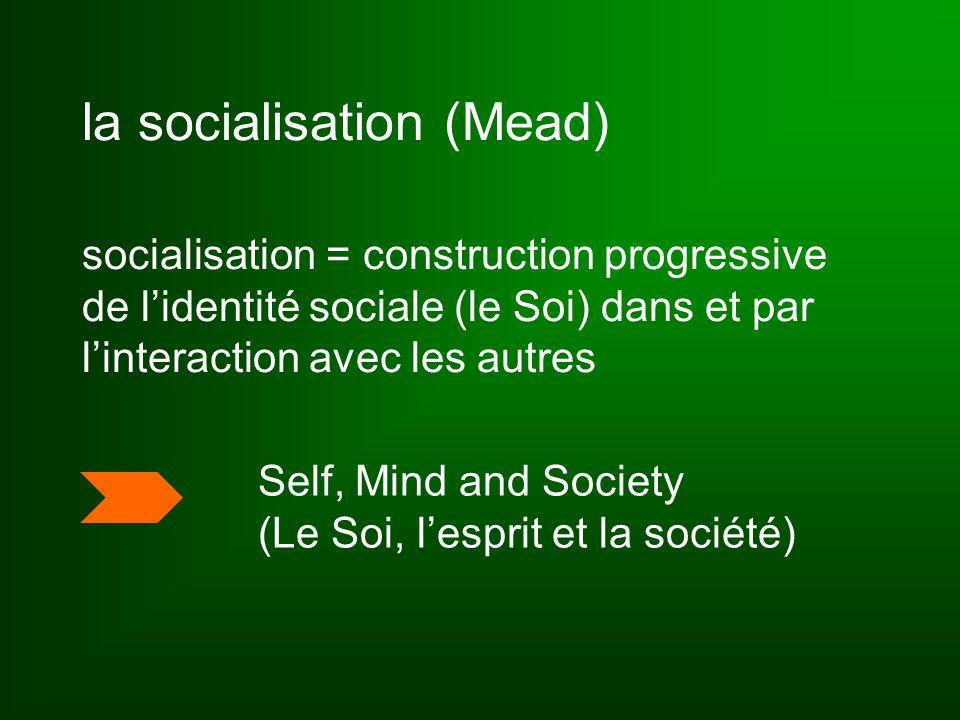 socialisation & identité = « processus de construction, déconstruction et reconstruction d'identités liées aux diverses sphères d'activité que chacun rencontre au cours de sa vie et dont il doit apprendre à devenir acteur » Dubar (2000), p.