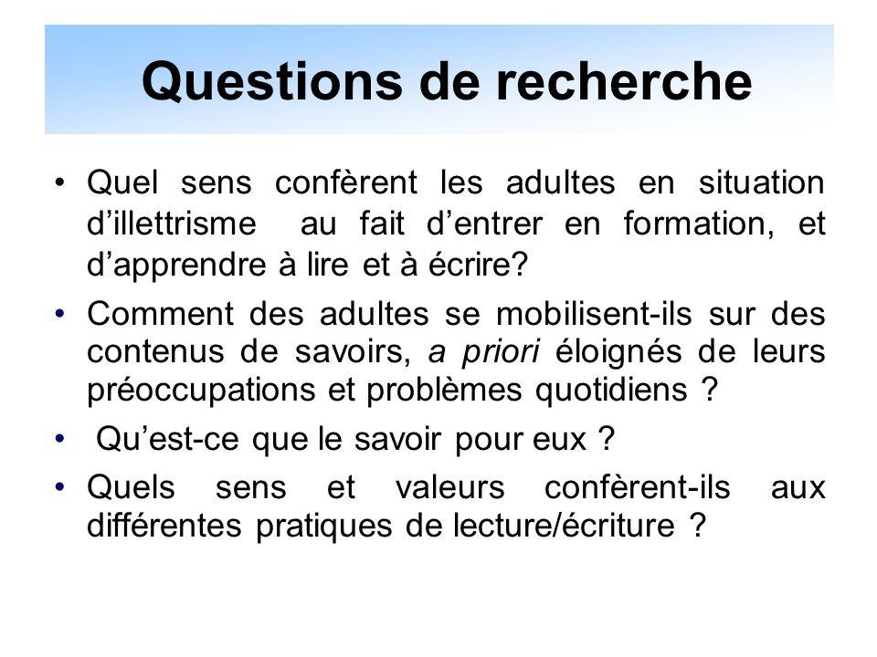 Problématique du rapport au savoir (Charlot,1997, 1999) Questions liées au sens de « l'apprendre » (op.