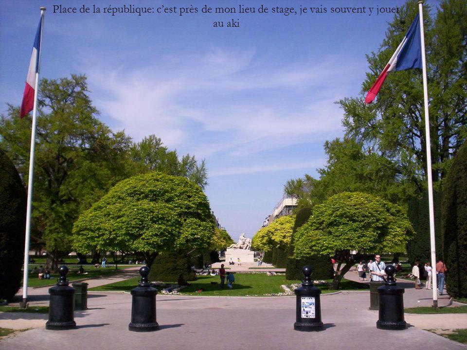Place de la république: c'est près de mon lieu de stage, je vais souvent y jouer au aki