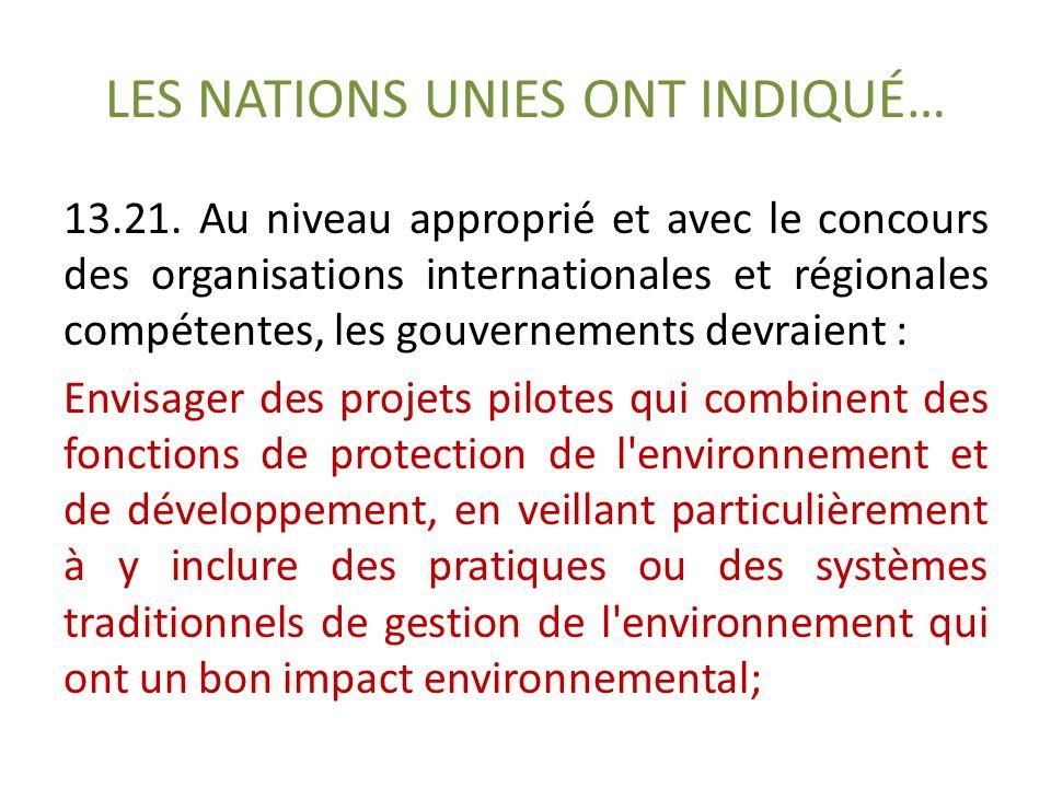 LES NATIONS UNIES ONT INDIQUÉ… 13.21.
