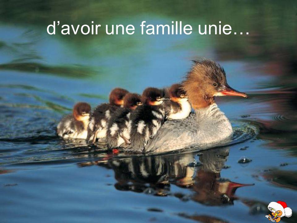 d'avoir une famille unie…