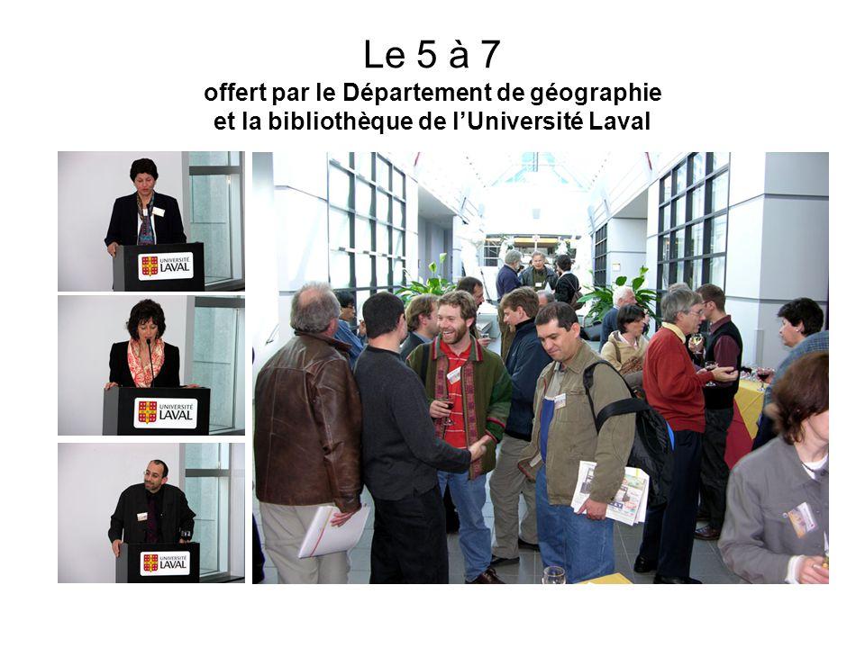 Le 5 à 7 offert par le Département de géographie et la bibliothèque de l'Université Laval
