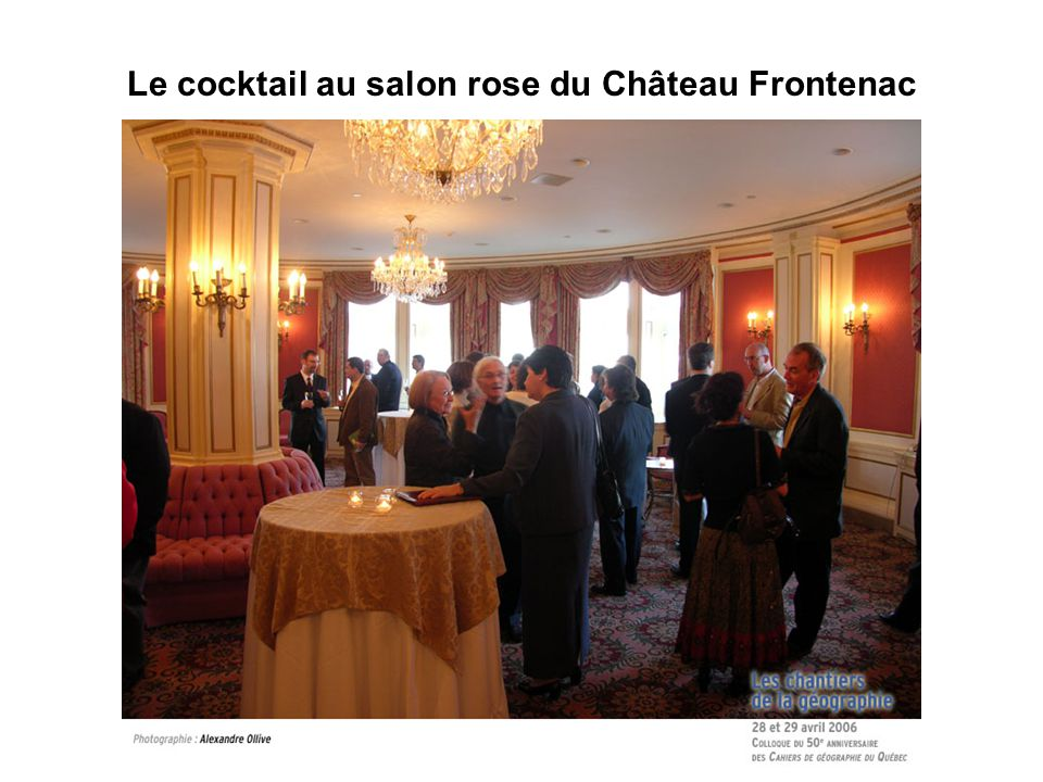 Le cocktail au salon rose du Château Frontenac