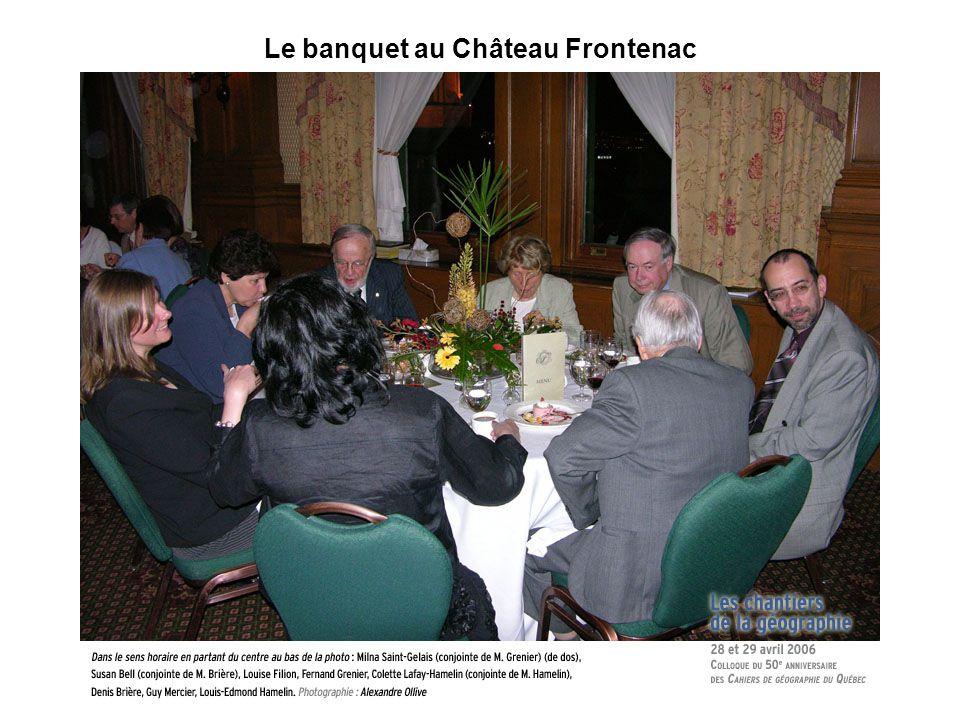 Le banquet au Château Frontenac