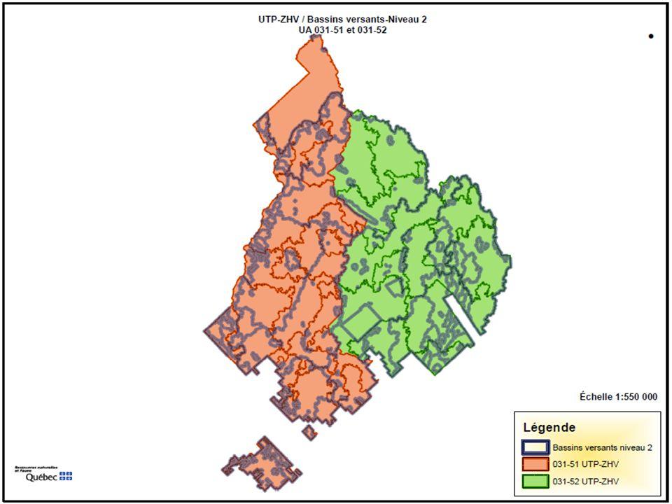 60 Évaluation UTP 3-Secteur Perthuis UA 031-51 Constat Toutes les UTP-ZHV seraient calculées et un gradient serait élaboré.