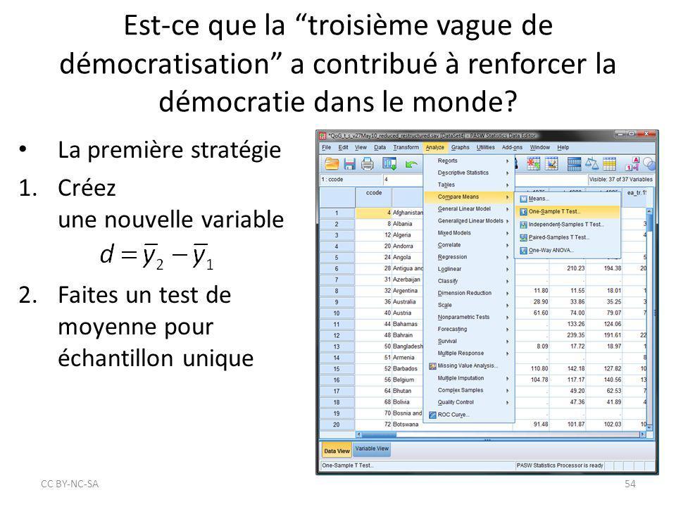 """Est-ce que la """"troisième vague de démocratisation"""" a contribué à renforcer la démocratie dans le monde? La première stratégie 1.Créez une nouvelle var"""