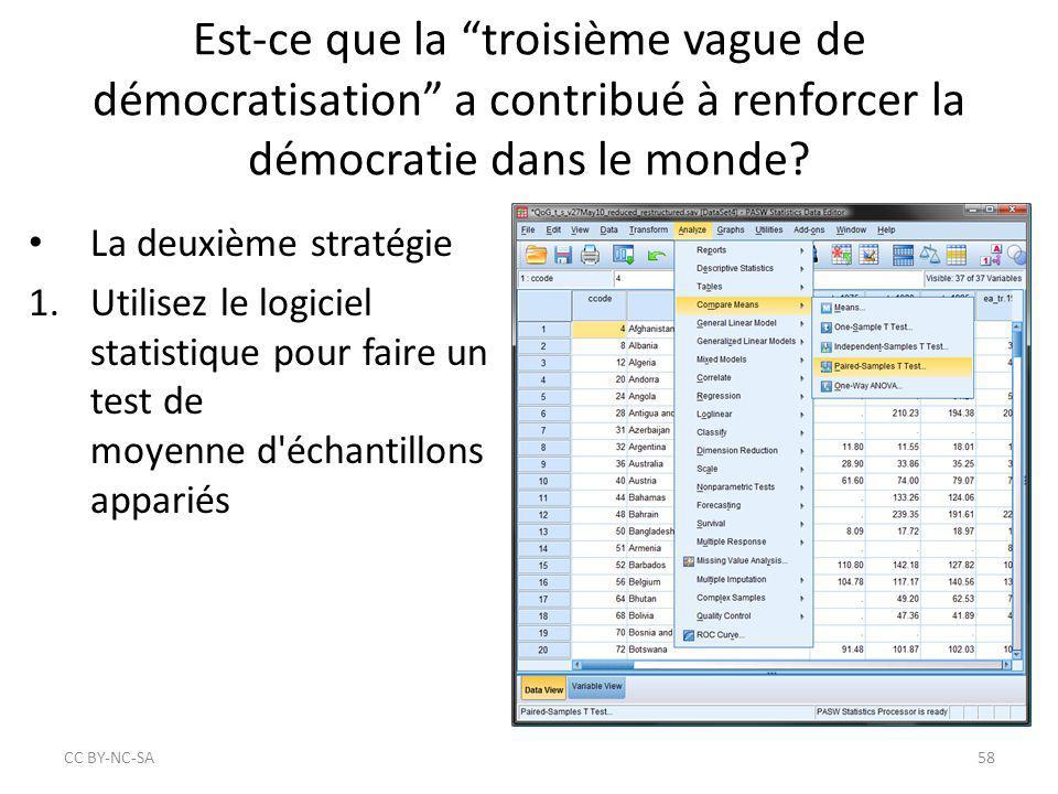 """Est-ce que la """"troisième vague de démocratisation"""" a contribué à renforcer la démocratie dans le monde? La deuxième stratégie 1.Utilisez le logiciel s"""