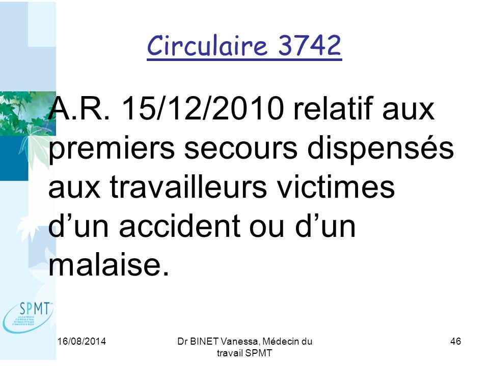 Circulaire 3742 A.R.