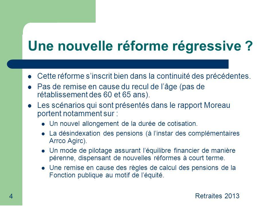 4 Une nouvelle réforme régressive .