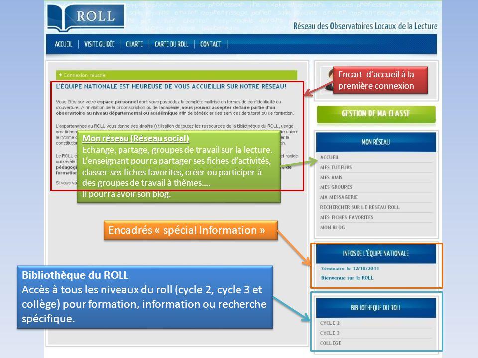 ROLL : des Observatoires Locaux de la Lecture Découverte de la partie « Réseau »