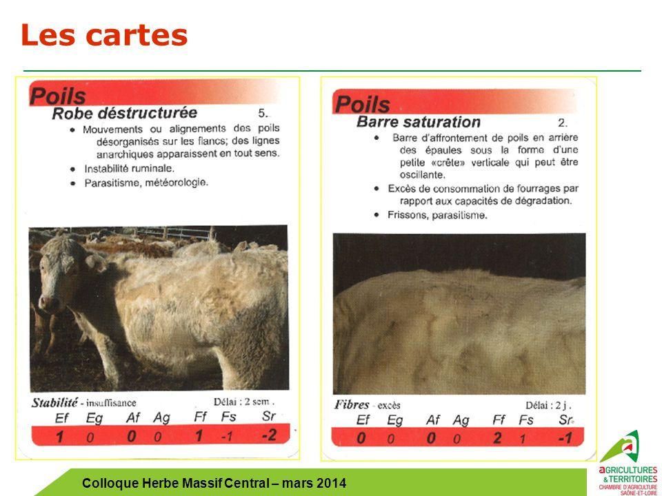 Colloque Herbe Massif Central – mars 2014 Les cartes