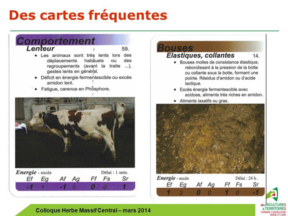 Colloque Herbe Massif Central – mars 2014 Des cartes fréquentes