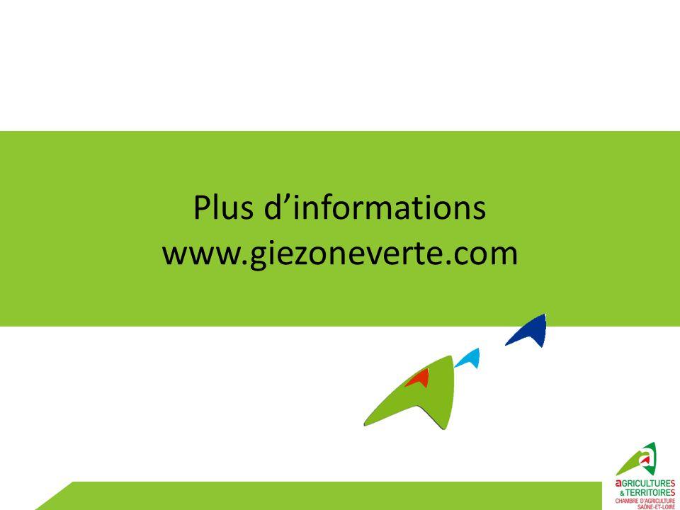 Plus d'informations www.giezoneverte.com