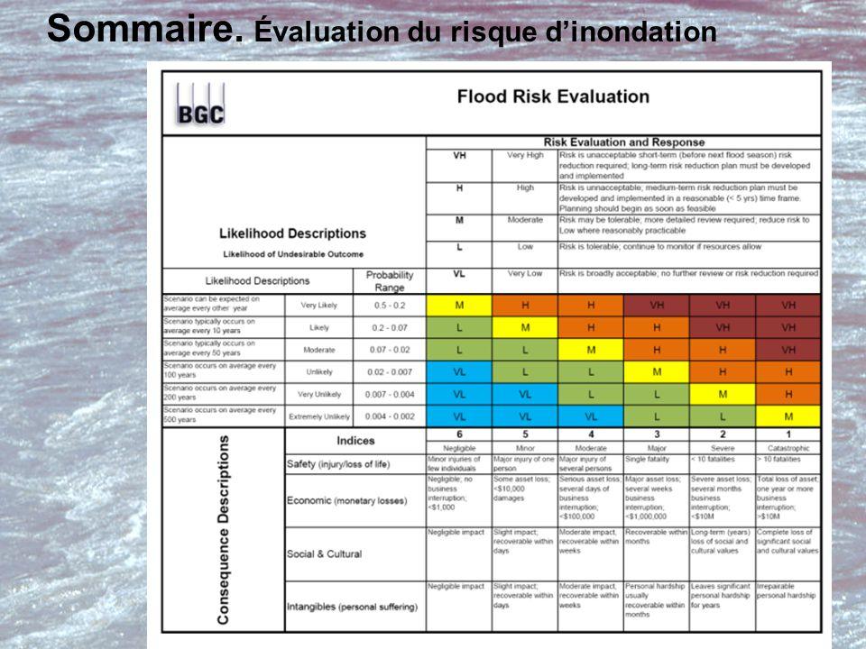 Sommaire. Évaluation du risque d'inondation