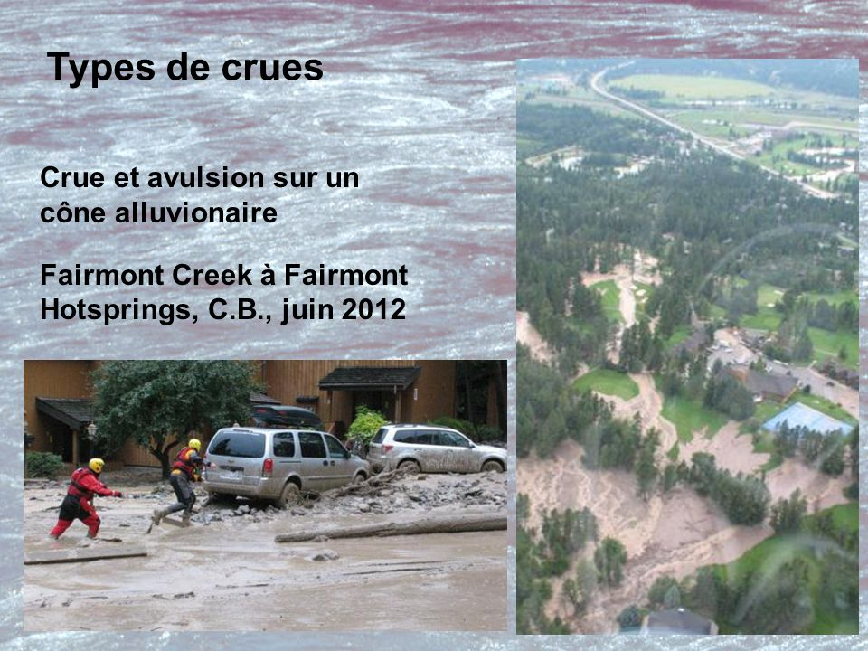 Crue torrentielle Sicamous Creek, Sicamous, C.B., juin 2012