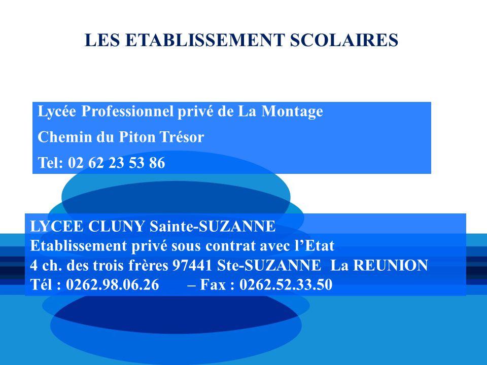 LYCEE CLUNY Sainte-SUZANNE Etablissement privé sous contrat avec l'Etat 4 ch. des trois frères 97441 Ste-SUZANNE La REUNION Tél : 0262.98.06.26 – Fax