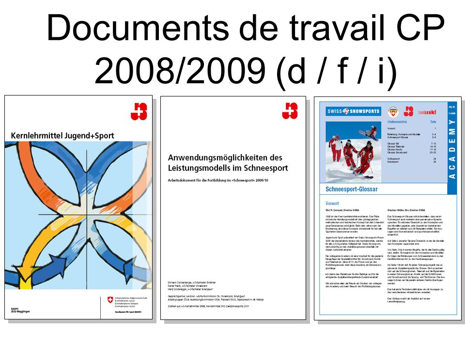Documents de travail CP 2008/2009 (d / f / i)