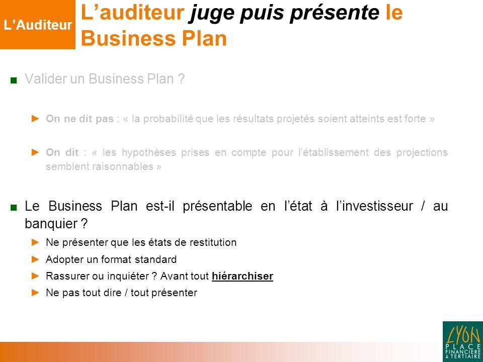 ■ Valider un Business Plan .