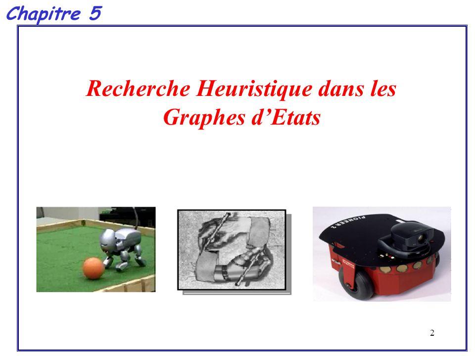 2 Recherche Heuristique dans les Graphes d'Etats Chapitre 5