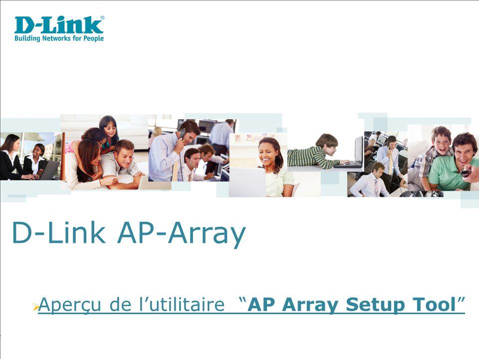 D-Link AP-Array  Aperçu de l'utilitaire AP Array Setup Tool